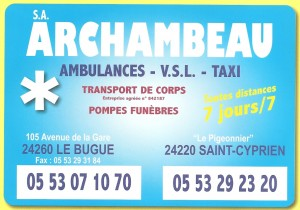 ARCHAMBEAU AMBULANCES