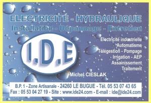 IDE - Installation Dépannage Entretien