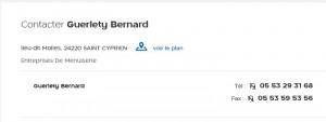 GUERLETY Bernard - Menuiserie