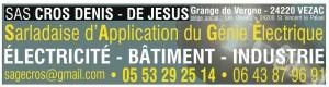 SAS CROS DENIS - DE JESUS - Sarladaise d'Application du Génie Electrique