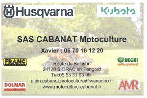 SAS CABANAT Motoculture