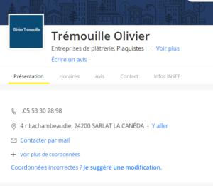 TRÉMOUILLE Olivier - Platrerie Plaquiste