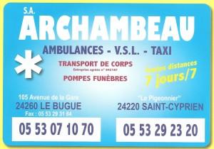 ARCHAMBEAU AMBULANCES