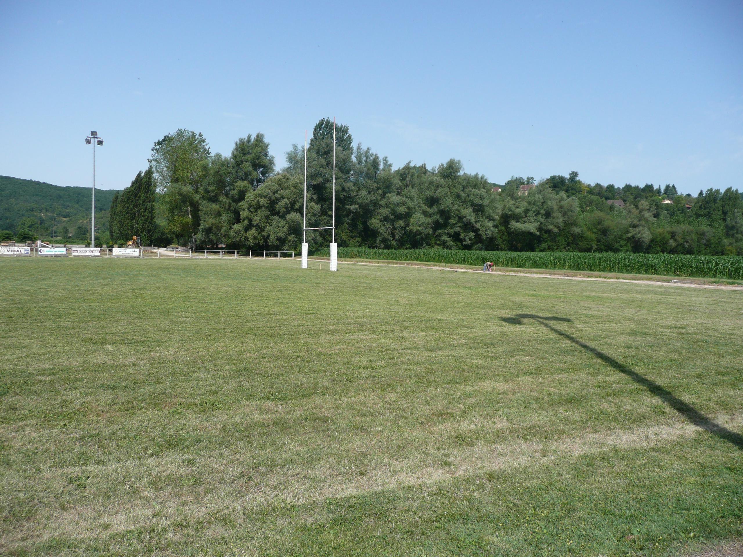 Le stade pendant les travaux