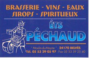 PECHAUD - Brasserie - Vins - Eaux