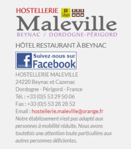 HOSTELLERIE Maleville