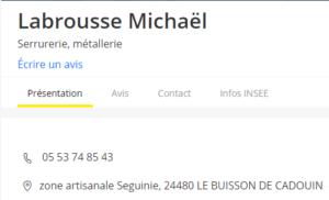 LABROUSSE Mickaël - Serrurerie