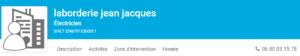 LABORDERIE Jean Jacques - Electricité